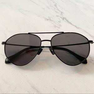 Diff Eyewear • Peachy Black Aviator Sunglasses
